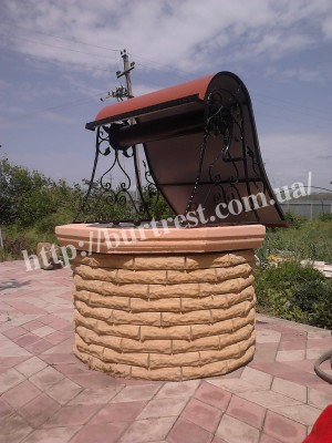 корба воріт ексклюзивний кований будиночок для колодязя
