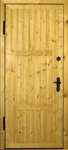 Металлические двери с отделкой вагонкой