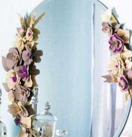 Украшаем зеркало цветами